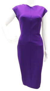 Escada short dress Iris Purple Style 5006836 Asymmetrical Bottom Fitted Sheath on Tradesy