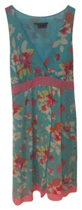 BCBGMAXAZRIA short dress Blue/Pink on Tradesy