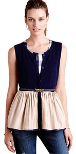 Anthropologie Darcy Pleated Peplum Moth Top