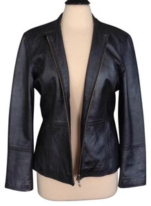 TEHAMA Dark Gray Leather Jacket
