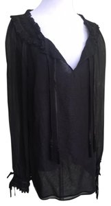 Escada Tunic Cami Sheer Top Black