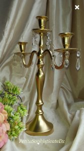 Four Gold Candelabras