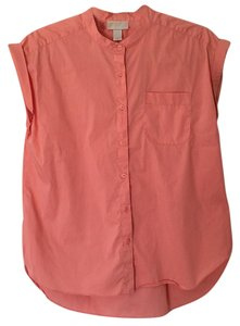Ann Taylor LOFT Button Down Shirt Peach