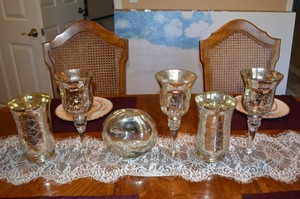 Crafty Couture Mercury Glass Vases / Candle Holders Reception Decoration