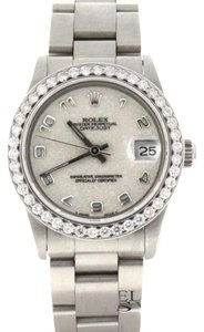 Rolex Rolex Datejust Midsize 31MM Jubilee Arabic Dial Steel w/Diamond Bezel