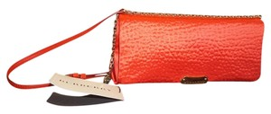 Burberry Satin Date Night Night Out Summer Red Clutch