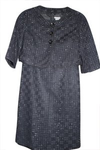Ann Taylor Black and White Patterned Ann Taylor Factory Skirt Suit