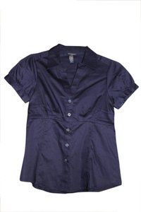 Banana Republic Button Down Shirt Dark Purple