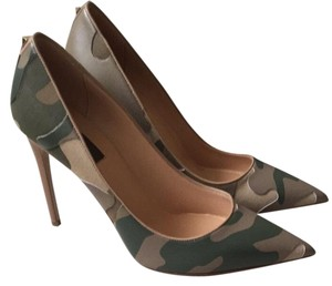 Valentino Camo Heels Green Camouflage Pumps
