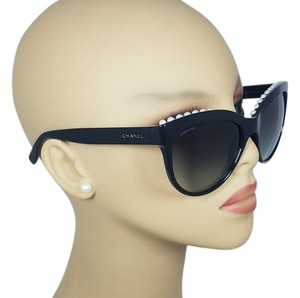 Chanel Chanel Limited Edition Butterfly Pearl Black Sunglasses 6040H C501/S6