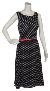 Black with polka dots Maxi Dress by Jessica Howard Dot Belted