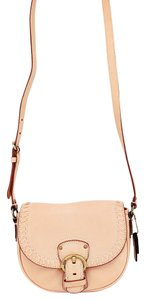 Coach Leather Buckle Messenger Stitch Studs Cross Body Bag