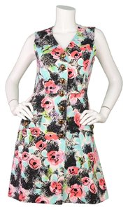 Maxi Dress by Chanel Floral Sleeveless Button Up