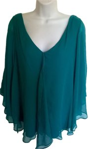 Matty M Silk Top Turquoise