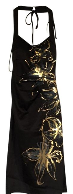 Cache Black 30333 Knee Length Night Out Dress Size 8 (M) Cache Black 30333 Knee Length Night Out Dress Size 8 (M) Image 1