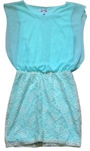 Speechless short dress Light mint and white on Tradesy