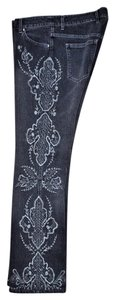 Escada Embellished Boot Cut Jeans-Dark Rinse