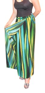 Ellen Tracy Vintage Maxi Skirt Green multicolored