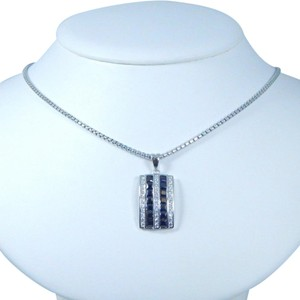 9.2.5 Classy Emerald cut shape 3x3mm Princess Cut Black Diamond Pendant Pendant Sterling Silver