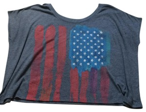L.O.L. Vintage T Shirt Dark gray, red white and blue