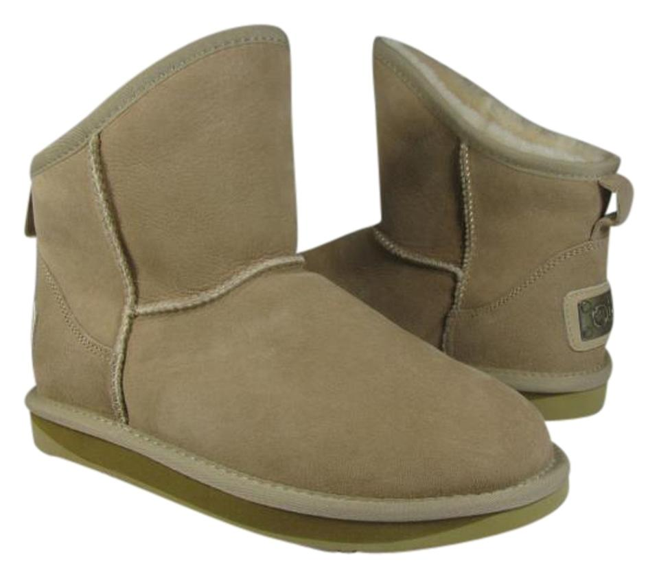 db79fed1a6f Australia Luxe Collective Short Sheepskin Ankle sand Boots Image 0 ...