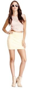 American Apparel Cotton Spandex Form-fiting Mini Skirt Custard Yellow