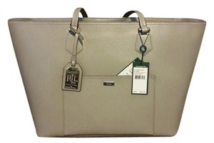 Ralph Lauren Leather Gray New Tote in dove grey