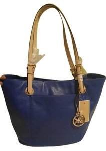 Michael Kors Leather Large Tote in Electric Blue