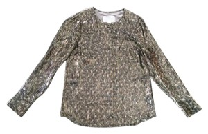 J.Crew Top Silver Cheetah