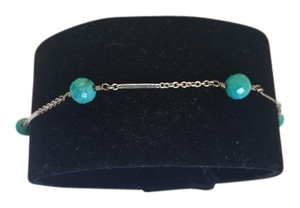 Levonian Jewelry Silver Bracelet with Turquoise Gemstones