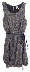 Anthropologie short dress Blue/Tan Floral Blue Mini on Tradesy