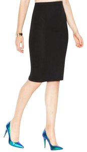 Bar III Jacquard Pencil Skirt black