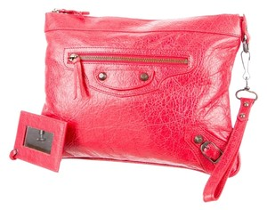 Balenciaga Wristlet Wallet Leather Arena Red Clutch