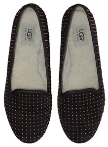 UGG Australia Alloway Studded Suede Loafers Brown Flats