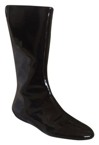 Burberry Shiny Black Patent Leather Boots