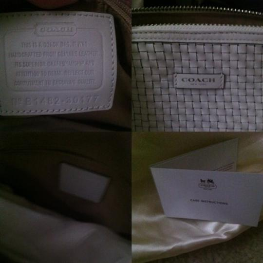 Coach Satchel in White /Silver Image 3