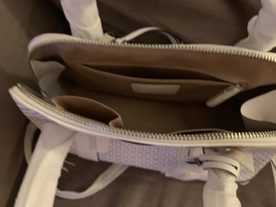 Coach Satchel in White /Silver Image 6