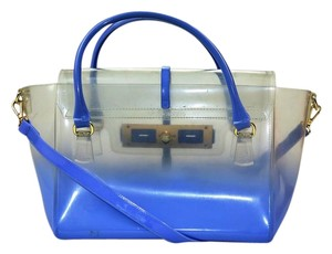 Vince Camuto Jelly Satchel in Clear/Blue