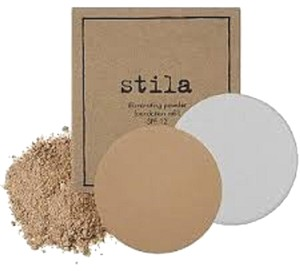 Stila Stila Illuminating Powder Foundation Refill - 0.34oz 80 Watts for dark complexions with warm golden undertones