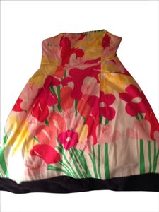 Lilly Pulitzer Designer Colorfull Stapless Aline Comfortable Casual Green Pink White Yellow Orange Floral Summer Lilly Red Dress
