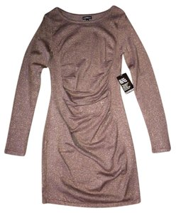 Express Metallic Sweater Dress
