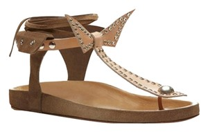 Isabel Marant Suede Leather Classic Closet Staple Beige Sandals