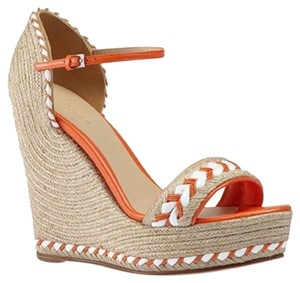 Gucci Orange-nude-white Wedges