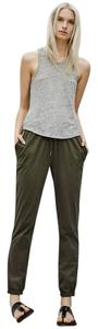 Aritzia Relaxed Pants Dark Olive