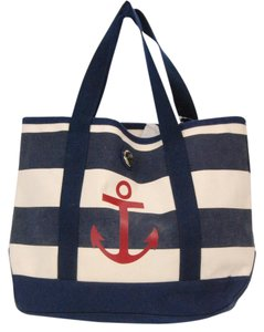 Tommy Hilfiger Striped Tote in Navy