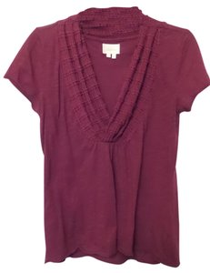 Deletta Anthropologie Cotton Knit Shawl Collar Lightweight Tunic