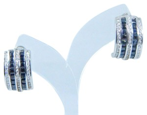 9.2.5 Gorgeous Emerald cut shape 3x3mm Princess Cut Black Diamond Earring Sterling Silver