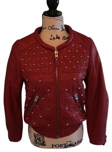Isabel Marant Red Leather Jacket