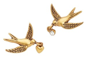 Marc Jacobs New Antique Gold Swallow Stud Earring