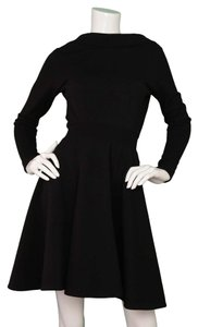 ALAÏA Fit And Flare Long Sleeve Dress